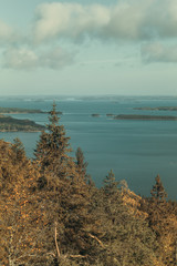 Vintage view from Koli to lake Pielinen