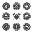 Fire department emblems black - 74707164