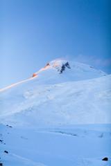 Mountains landscape beautiful sunset Elbrus Russia