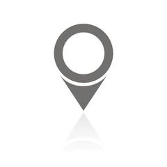 Icono localización FB reflejo