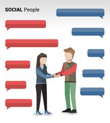 Social people print