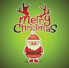 Merry Christmas Vector with Santa