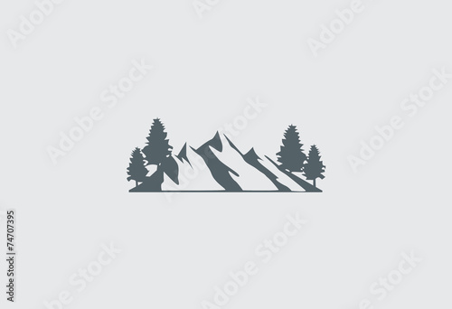 mountain-vector-logo - 74707395