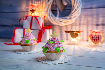 Enjoy your christmas cupcake