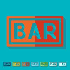 Flat design: bar