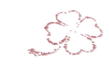 Glücksklee mit rosa Schweinchen