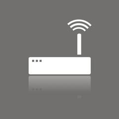 Icono router wifi FO reflejo