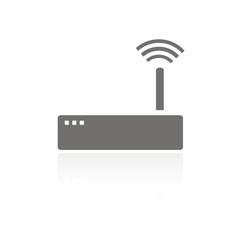 Icono router wifi FB reflejo