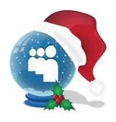 Social Media Christmas Snow Ball