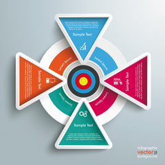 Target Colored Infographic 4 Triangles