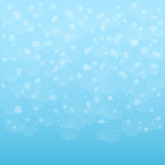 Blue snowy background