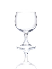 Wineglass over white background