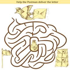 Illustration of Education Maze for Preschool Children