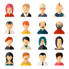 Set of vector user interface avatar icons