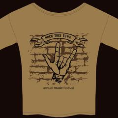 music tee shirt template