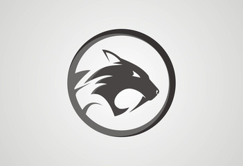 Jaguar head logo vector