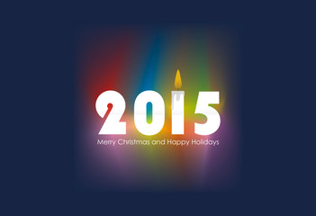 Happy 2015 new year vector design