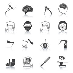 Surgery icons black