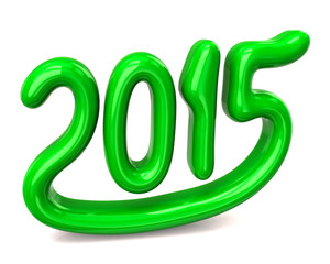 New 2015 year. Green.
