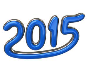 Blue number 2015