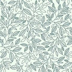 Seamless pattern, stylized leaves on vintage background