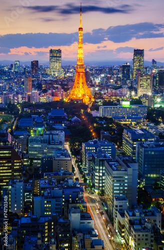 Staande foto Praag Tokyo city at night, Japan