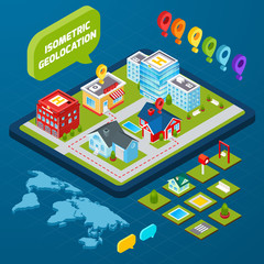 Isometric Geolocation Concept