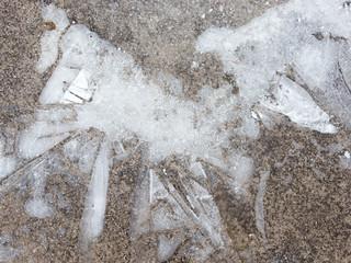 delicate white ice