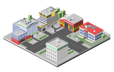 Isometric Buildings Concept