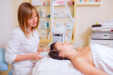 cosmetic hair treatments in the beauty salon