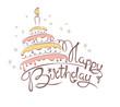 Abstract illustration -- cake & birthday - 74711700