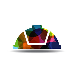 Helmet Colorful Vector Icon Design