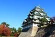 名古屋城と紅葉