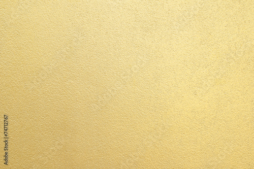 Foto op Canvas Wand Gold cement wall texture background