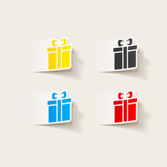 realistic design element: gift box