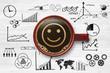 Smiley / Kaffeetasse / Businesssymbole