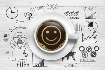 Smiley / Kaffeetasse / Businesssymbole