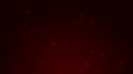 Dark red background with shiny red particles