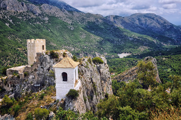 Guadalest - village famous for its castle and Bell Tower