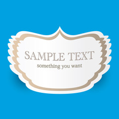 Vintage blue vector background with place for your text