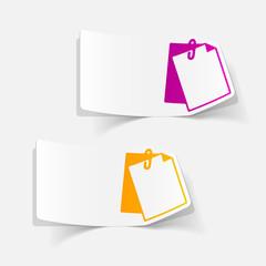 realistic design element: clipboard