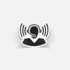 realistic design element: call center