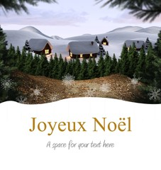 Composite image of joyeux noel