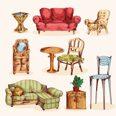Furniture Sketch Colored