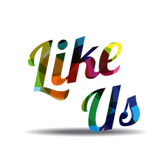 Like Us Colorful Vector Icon Design