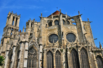 France, the historical collegiate church of Mantes la Jolie