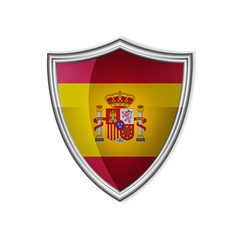 Spanish glossy label or badge on a clean background