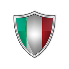 Italian glossy label or badge on a clean background