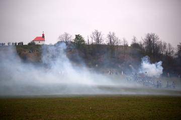 Smoke on the battlefield, Battle of Three Emperors, Austerlitz,