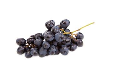 black ripe grapes
